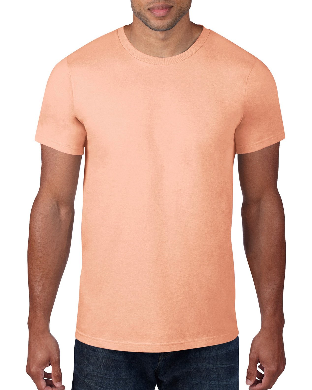 Anvil Mens Fashion Fit Ringspun T-Shirt (980) -Dusty Rose -L