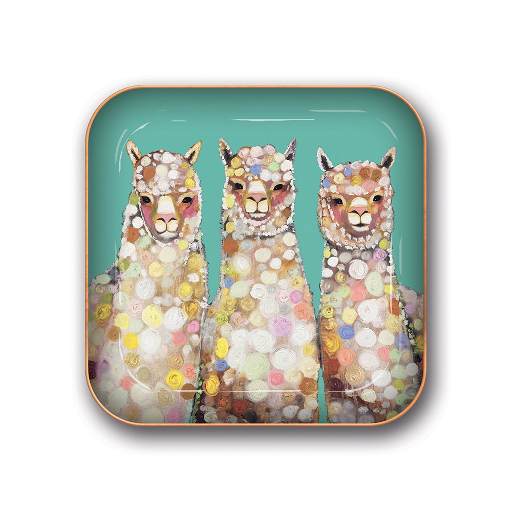 Studio Oh! Small Metal Catchall Tray Available in 12 Different Designs, Eli Halpin Alpaca 81043