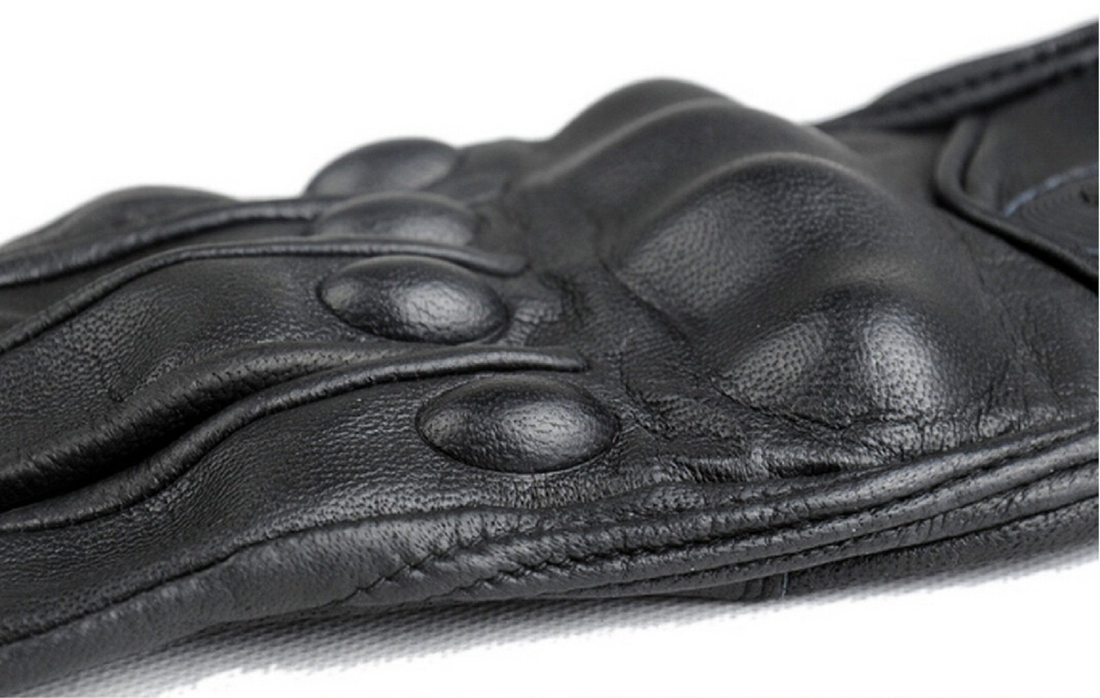 FXC Full Finger Motorcycle Leather Gloves Men's Premium Protective Motorbike Gloves (L, Solid) by FXC (Image #6)