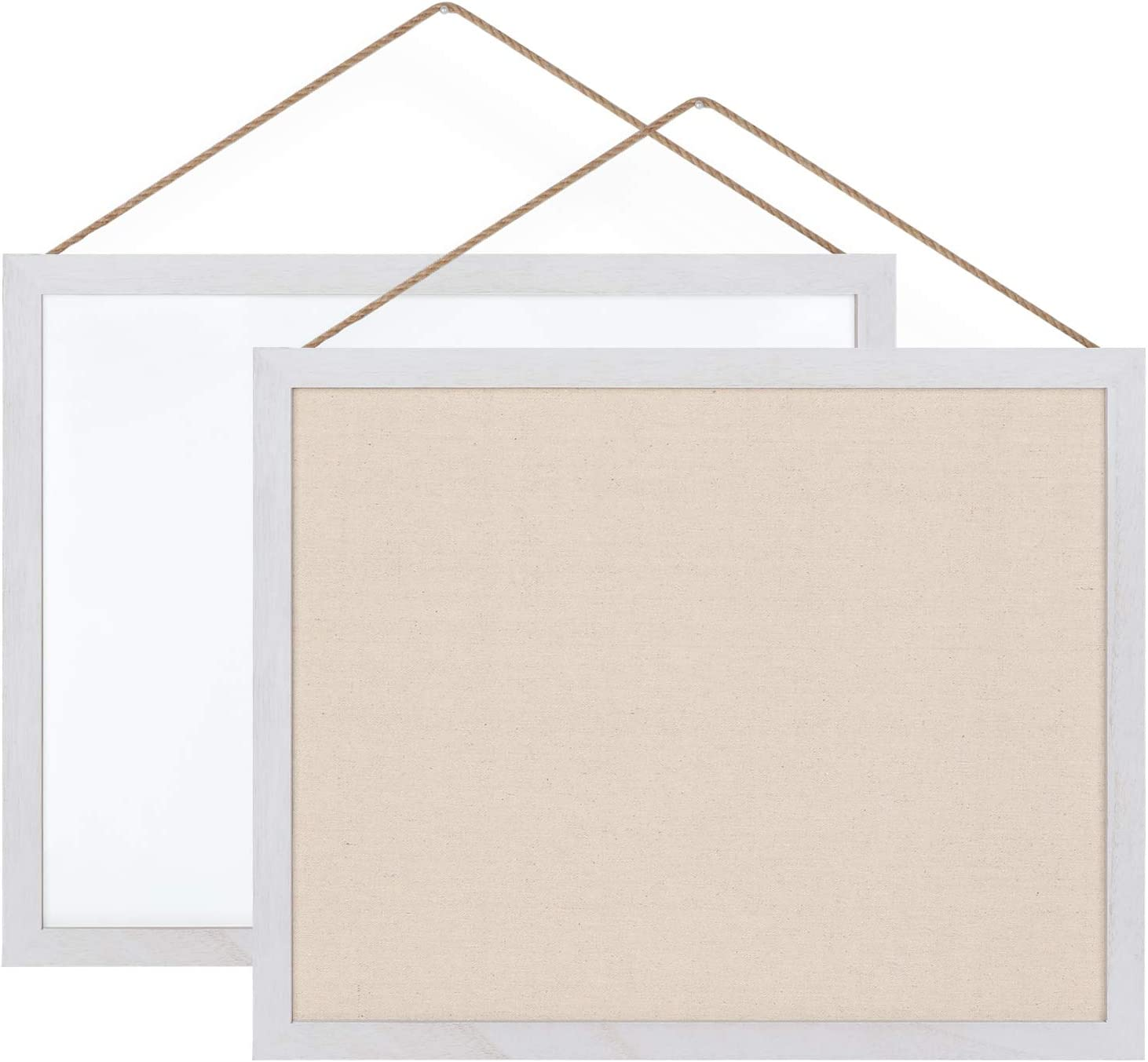 Emfogo Cork Board with 19x15 inch Combination White Board & Bulletin Cork Board 1-Pack Bulletin Board for Wall Home Office Decor,Home School Office Message Board or Vision Board