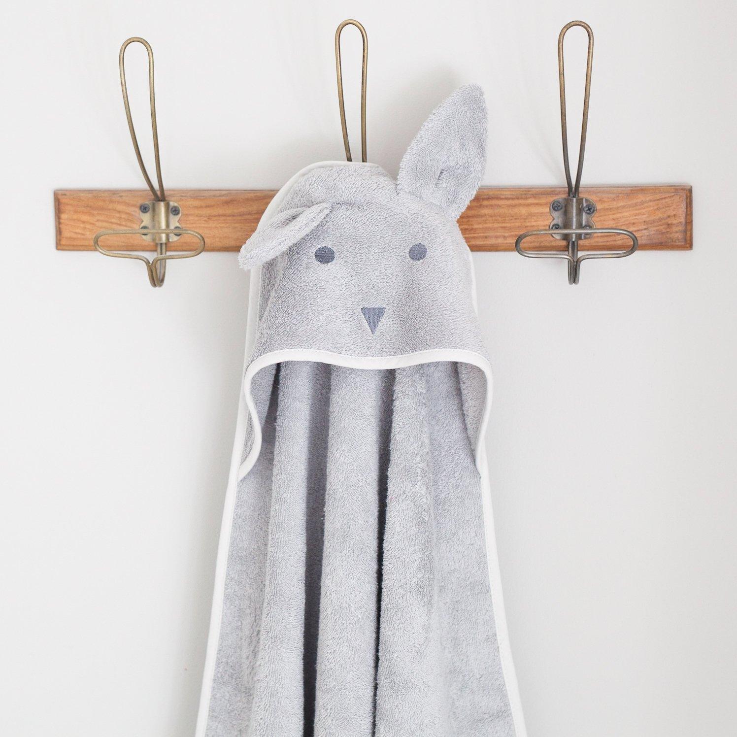Das Kapuzentuch ist ein sch/önes neues Babygeschenk. Premium Beau Bunny Baby Kapuzenhandtuch 100/% Baumwolle superweiches Babyhandtuch in einem sch/önen sanften Grau