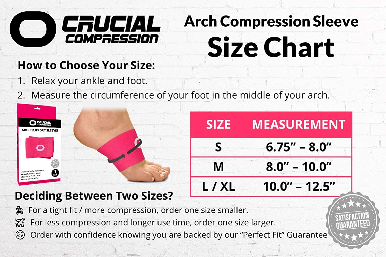 Flat Feet /& Heel Spurs Wear with Our Plantar Fasciitis Socks High Arch Pain - Best Plantar Fasciitis Support Brace for Pain Relief Compression Arch Support Sleeves for Men /& Women 1 Pair
