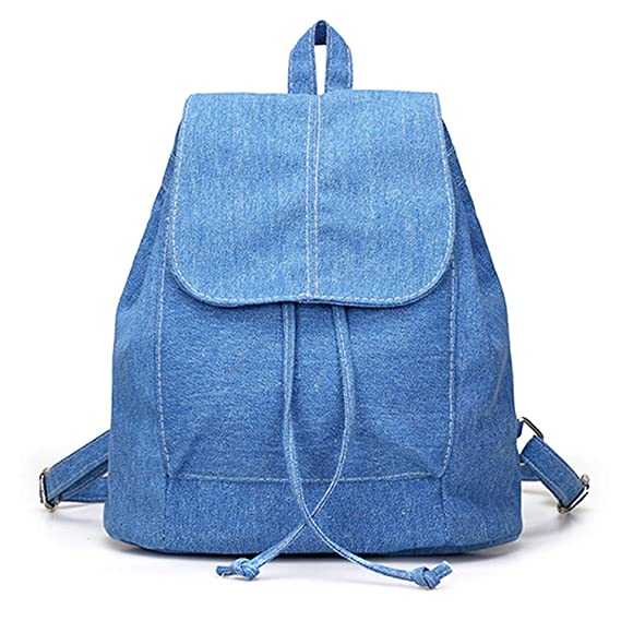 Amazon.com | Womens Denim Backpacks, Small, Various Color Washes (Light Blue) | Casual Daypacks