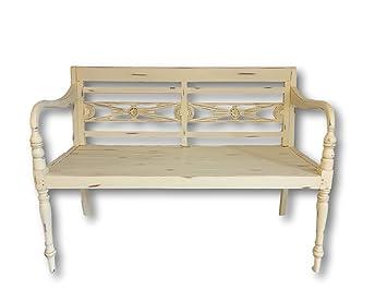 Super Rustic House Garden Bench 2 Seater Wooden Country Cream Creativecarmelina Interior Chair Design Creativecarmelinacom