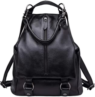 06e2353e62 BOYATU Women Genuine Leather Backpack Ladies Rucksack Waterproof Travel  Shoulder Bag