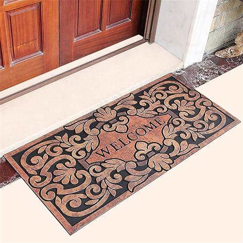 LY-Vigor Front Door Mat Large Outdoor Indoor Entrance Doormat Heavy Duty PVC Backing 22 x 47 Inch