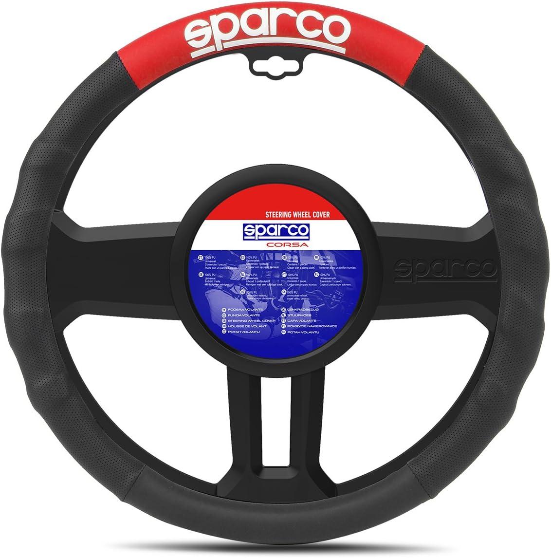 SPARCO Couvercle du Volant Noir//Rouge