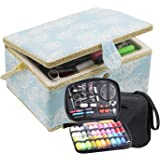 D&D Large Sewing Basket with Accessories, Blue, 8016-1