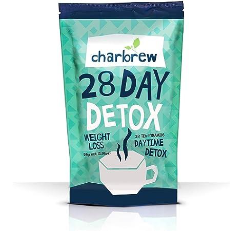 Té Detox Para el Día de Charbrew Té para Bajar de Peso para 28 ...