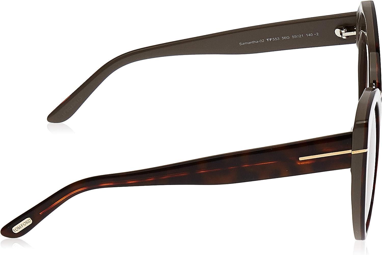 Authentic Tom Ford FT0553 Samantha-02 56G Havana Sunglasses