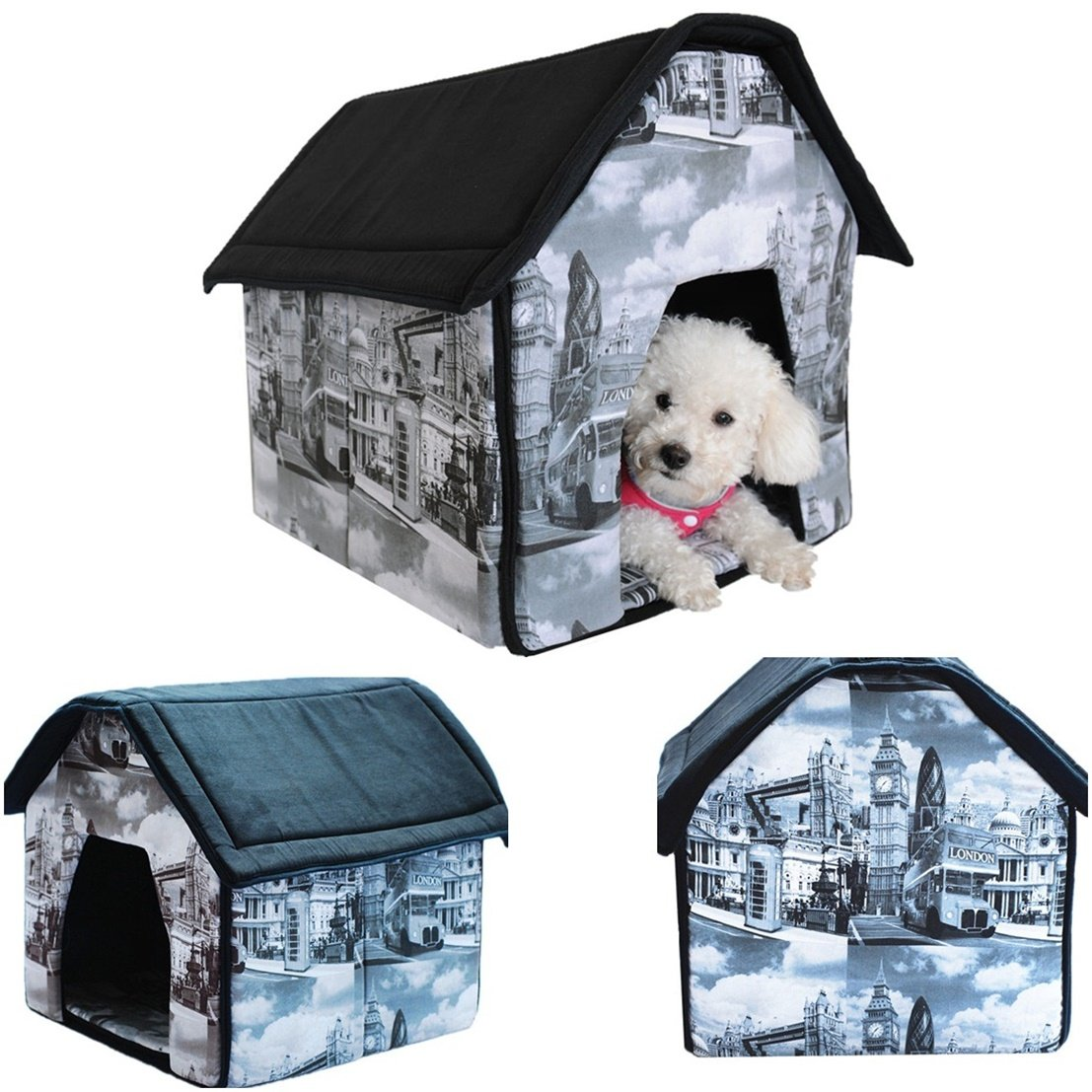 1 Set Notable Popular Indoor Pet House Portable Bed Cat Furniture Collapsible Couch Style London