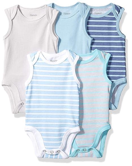 3d4f9e9dc Amazon.com  Hanes Ultimate Baby Flexy 5 Pack Sleeveless Bodysuits ...