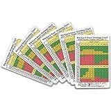 Set of Six Blackjack Basic Strategy Cards