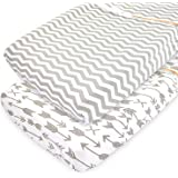 Changing Pad Cover Sheets Set, 2 Pack, Universal Fitted Changing Table Covers