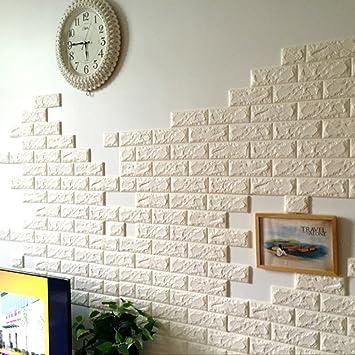 3d Brick Pattern Wall Stickers Peel And Stick Kitchen Backsplash Wall Sticker Faux Ceramic Tile Design