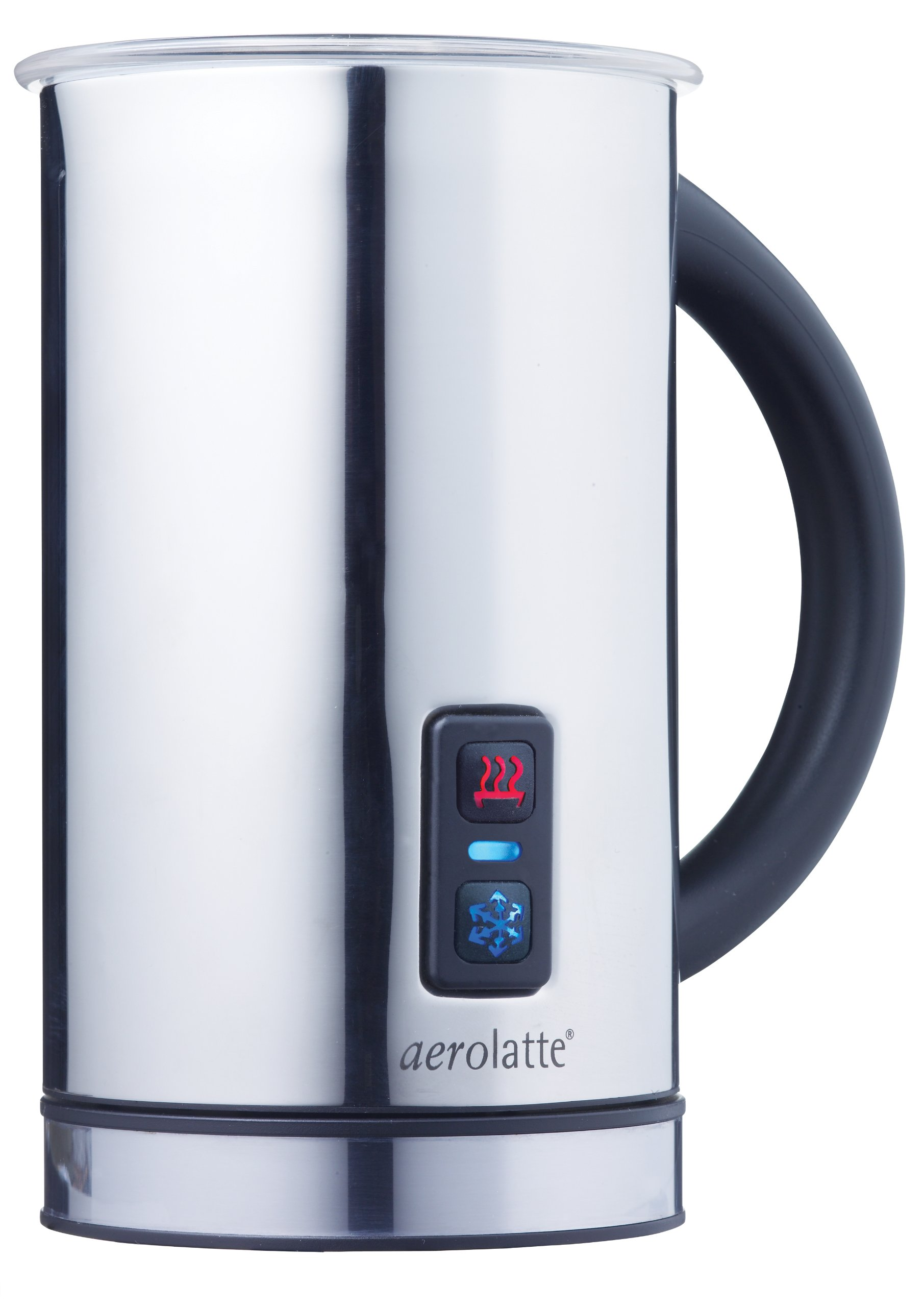 aerolatte Grande Automatic Hot or Cold Milk Frother and Cappuccino Foam Maker, Stainless Steel, 16-Ounce by aerolatte