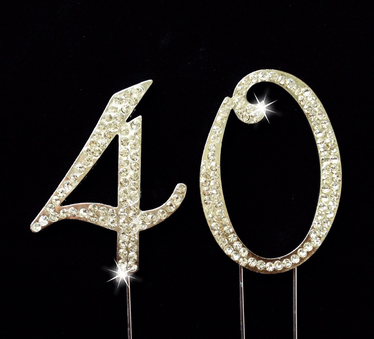 Amazoncom 40th Birthday Wedding Anniversary Number Cake Topper