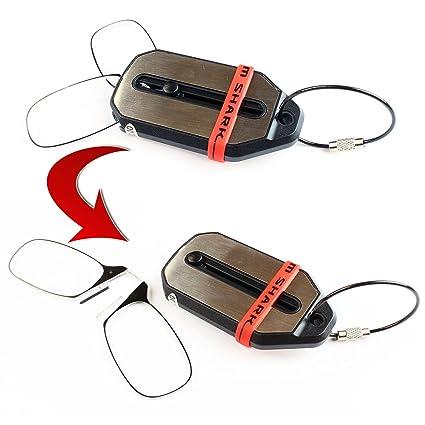 Unisex - Gafas de lectura con llave - Gafas plegables - Gafas de llavero - varias fortalezas - Gafas de bolsillo con la nariz apoyada (2.5 Diopters)