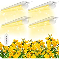 SHOPLED 2ft LED Grow Light Full Spectrum, 80W(4 × 20W), T8 High Output Plant Light Fixture for Sunlight Replacement…
