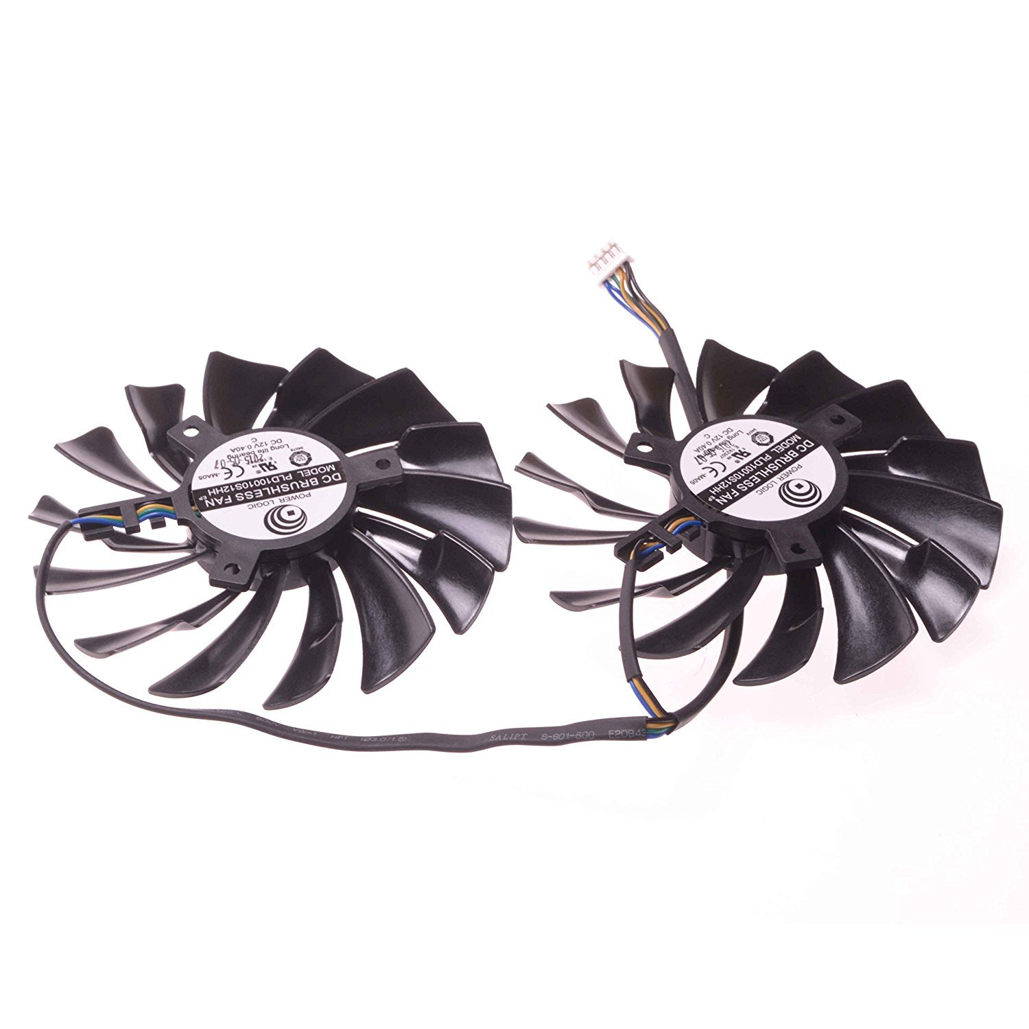 Replacement Video Card Cooling Fan For GTX950 GTX960 R9 380 R9 390 R9 390X Graphics Card Fan PLD10010S12HH 12V 0.4A 94mm 4 Pin by Tebuyus