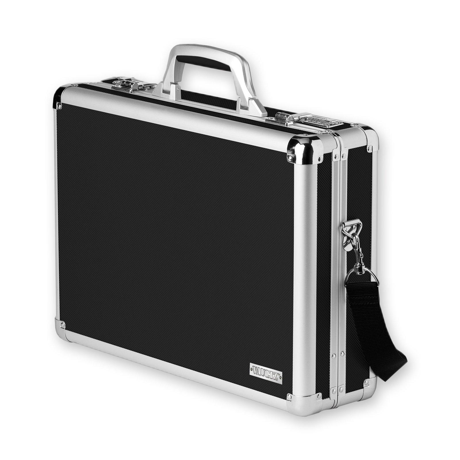 Vaultz Locking Laptop Case, Black (VZ01216)