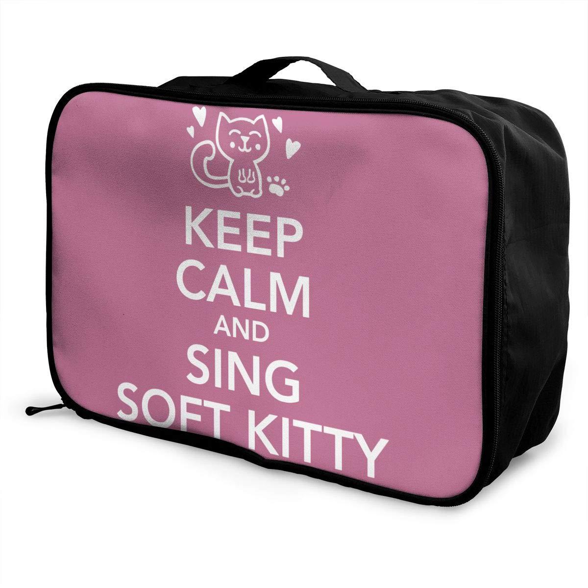 0cdc4e83f44f Amazon.com: customgogo Keep Calm I'm Captain Anchor Travel Luggage ...