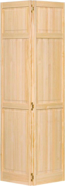 Closet Door, Bi-fold, 6-Panel Style Solid Wood (80x30)