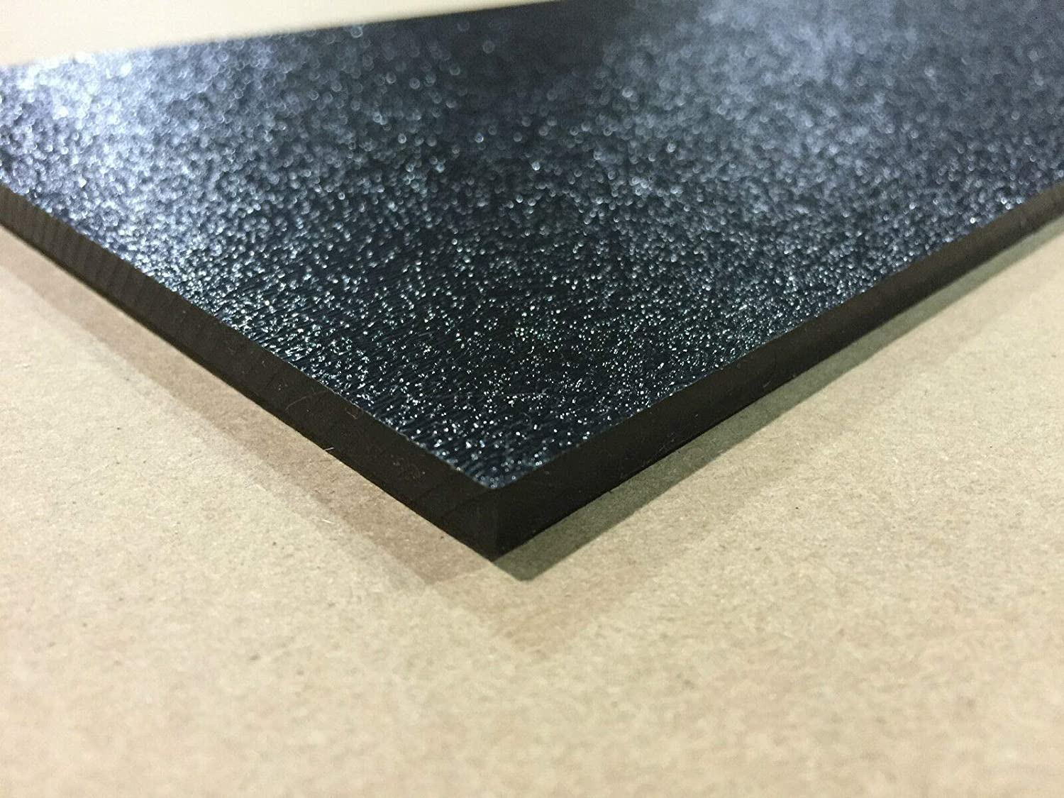 ABS Black Plastic 1//8 x 12 x 12 .125 textured 1 side stereo sheet