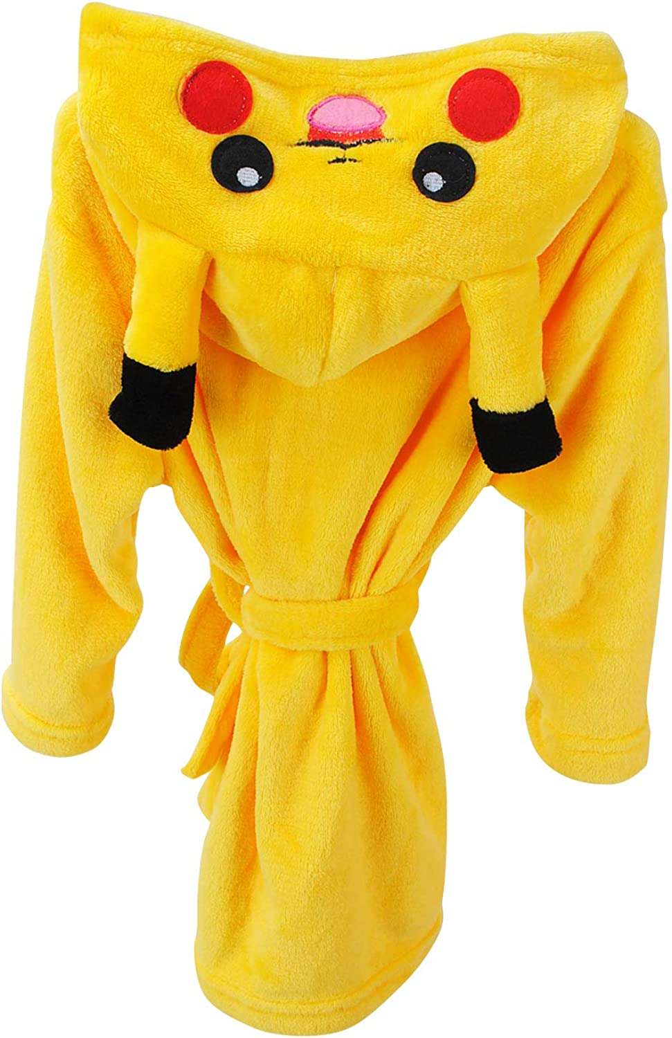 JollyRascals Girls Dressing Gown Kids New Novelty Mouse Hooded Fleece Robe Age 2 3 4 5 6 7 8 9 10 11 12 13 Years