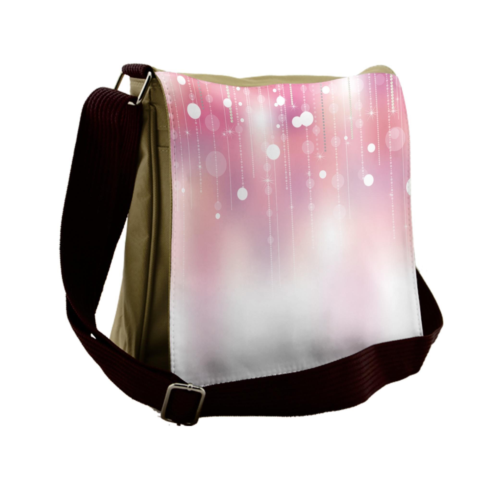 Lunarable Pearls Messenger Bag, Bridal Wedding Theme Artsy, Unisex Cross-body