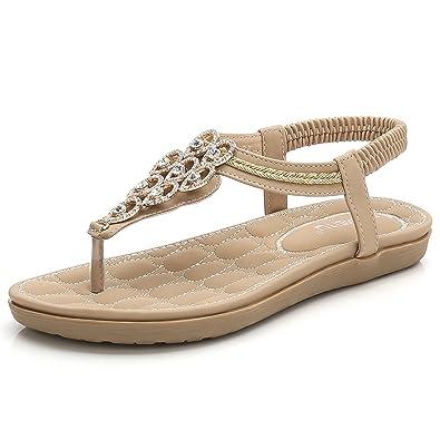 defcef5109f272 BELLOO Women s Summer Thongs Sandals Clip Toe Flip Flops Bohemian Style  Shoes