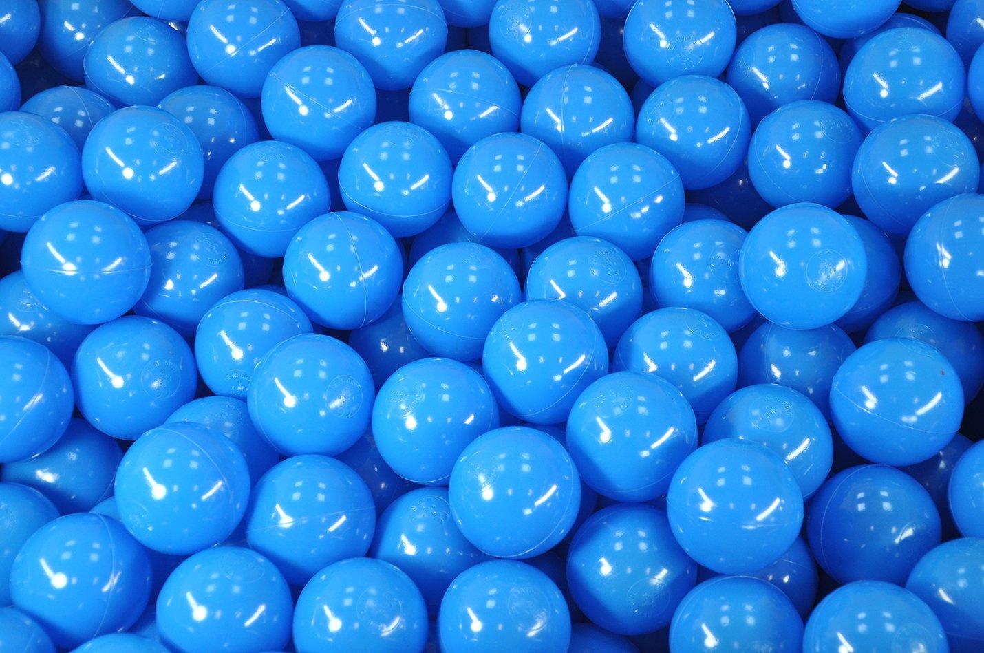 BälleBad Bälle - Blau - 500 Stück - CE-Kennzeichnung - 75mm