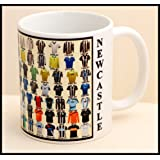 Newcastle United mug Newcastle shirt History Mug Ceramic Mug football Mug SHIRTS THROUGH THE AGES