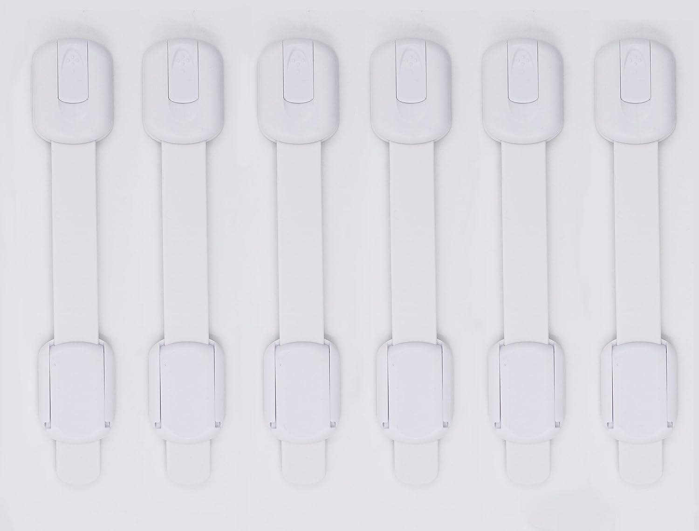puertas y electrodom/ésticos cerraduras para armarios a prueba de beb/és WONDERKID Cerraduras de seguridad para ni/ños reutilizables y ajustables de alta calidad