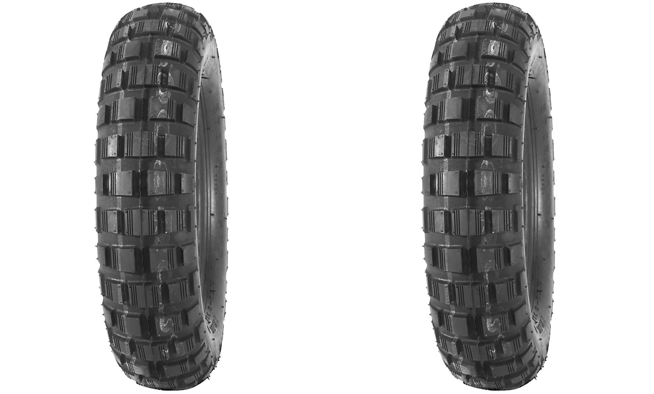 BRIDGESTONE Blackwall Scooter Front/Rear Tire Set, 400-10