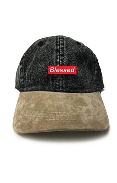 Blessed Supreme Dad Hat Baseball Cap Unstructured New - Black Denim w   Suede Bill  Amazon.ca  Clothing   Accessories 76aee09c3ff