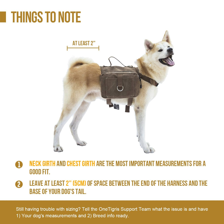 OneTigris - Lona de algodón para mascota, para exterior, ideal para viajes/camping/senderismo/bolsa para sillín de bicicleta, para perros medianos y grandes ...