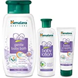 Himalaya Gentle Baby Bath, 400ml with Baby Lotion, 200ml and Baby Cream, 100g