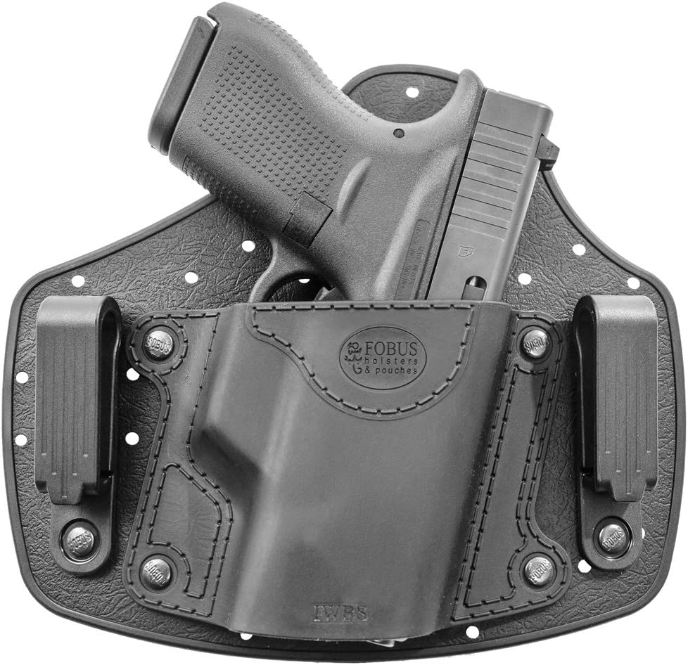 Fobus New iwbs Holster Right Hand IWB Inside Waistband Passive Retention Holster Fits Colt Mustang/diamonback DB380/Kahr PM9/Kel-Tec P-32/Kimber Solo/Remington rm380Pistol Handgun