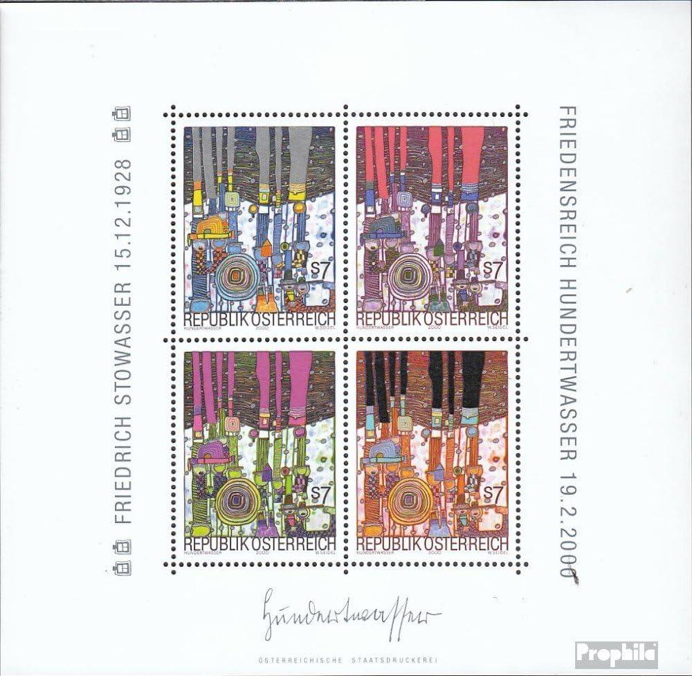 2000 Hundertwasser kompl.Ausg. Malerei Prophila Collection /Österreich Block15 Briefmarken f/ür Sammler