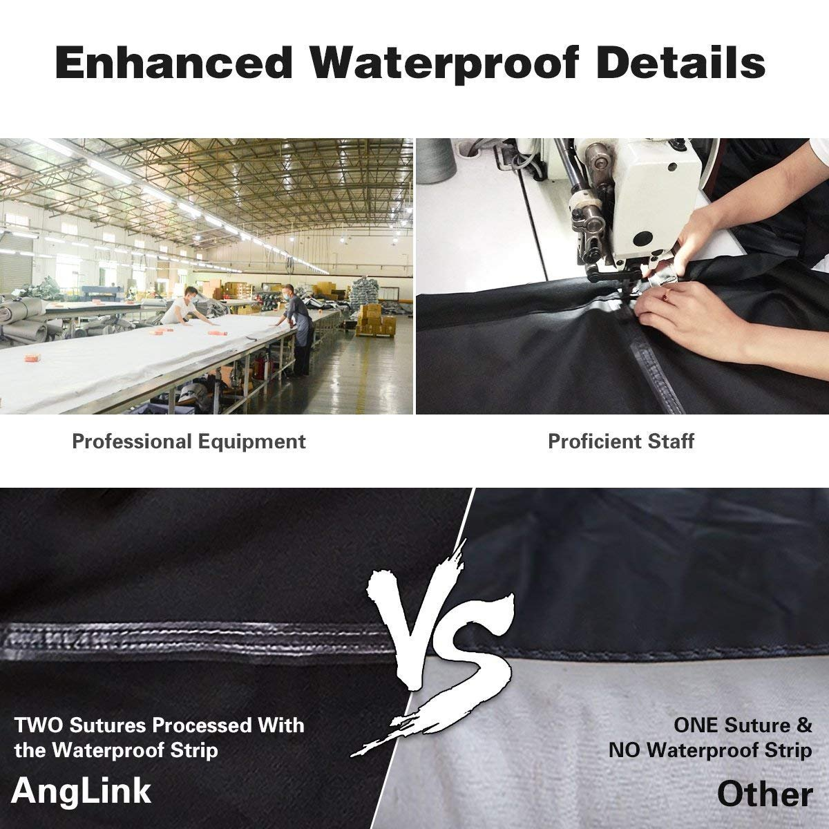 Waterproof Bike Cover 29 Inch Heavy Duty 210D Oxford Bicycle Cover with Double stitching & Heat Sealed Seams, Protection from UV Rain Snow Dust for Mountain Road Electric Bike Hybrid Outdoor Storage by Anglink (Image #2)