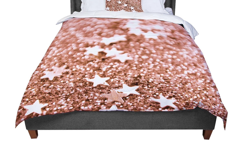 KESS InHouse Iris Lehnhardt Copper Glaze Brown Queen Comforter 88 X 88