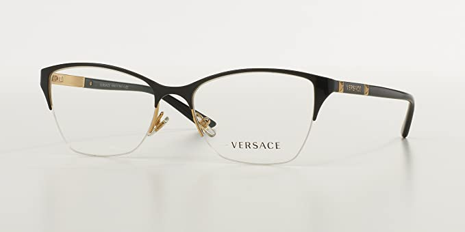 versace ve1218 eyeglass frames 1342 53 gold