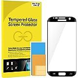 S7 Edge Protector de Pantalla, JETech Pantalla Completa Vidrio Templado Protector de Pantalla Empaquetado al por Menor para Samsung Galaxy S7 Edge (Negro)