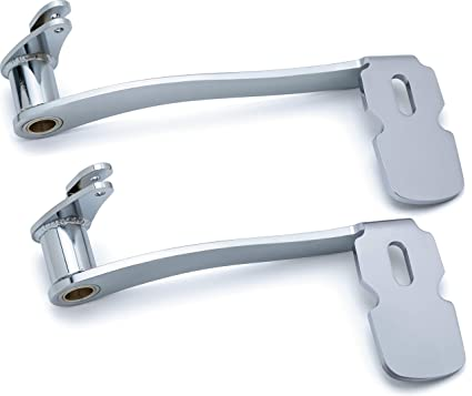 Kuryakyn 9672 Extended Brake Pedal with Fairing Lowers: 2014-19  Harley-Davidson Touring and Trike Motorcycles, Chrome