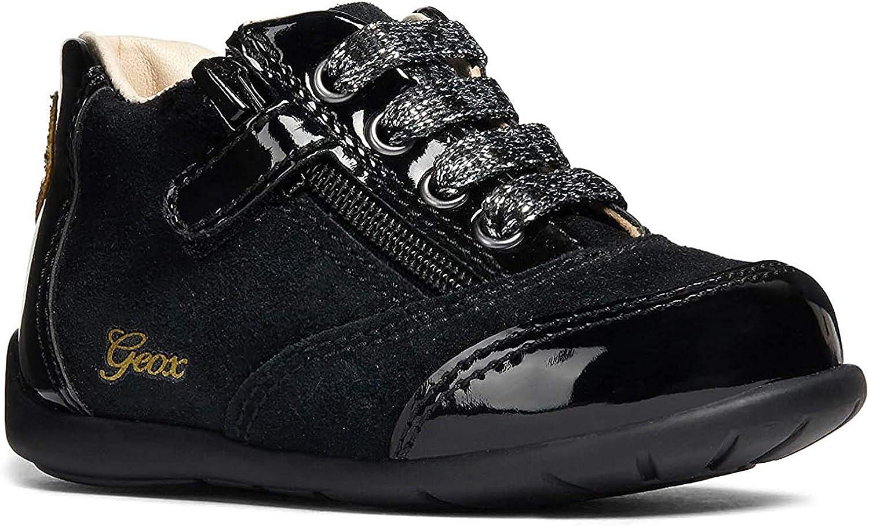 No puedo suelo arrendamiento  Amazon.com: Geox Girls' Kaytan 50 Zip Walking Shoe, Black/Gold, First  Walker,: Shoes