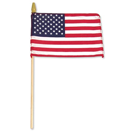 amazon com us flag store us wood stick with standard spear tip