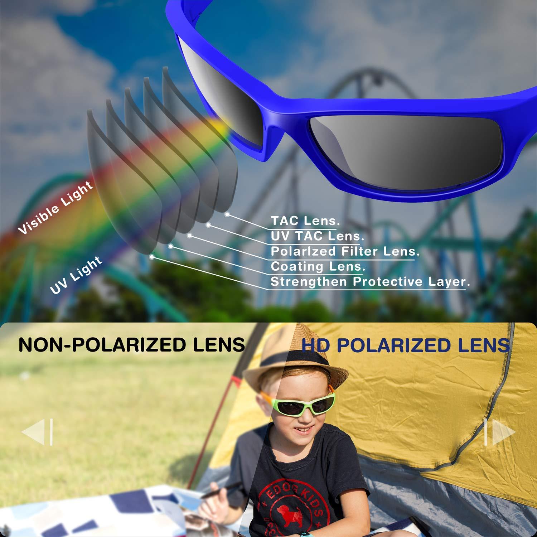 Amazon.com: RIVBOS RBK003 Gafas de sol polarizadas de goma ...