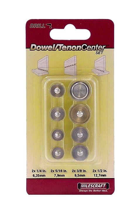 Milescraft 5343 Dowel And Tenon Center Set 8 Piece Amazonca
