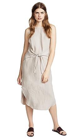7113cca62d Amazon.com  Three Dots Women s Tie Front Midi Dress  Clothing